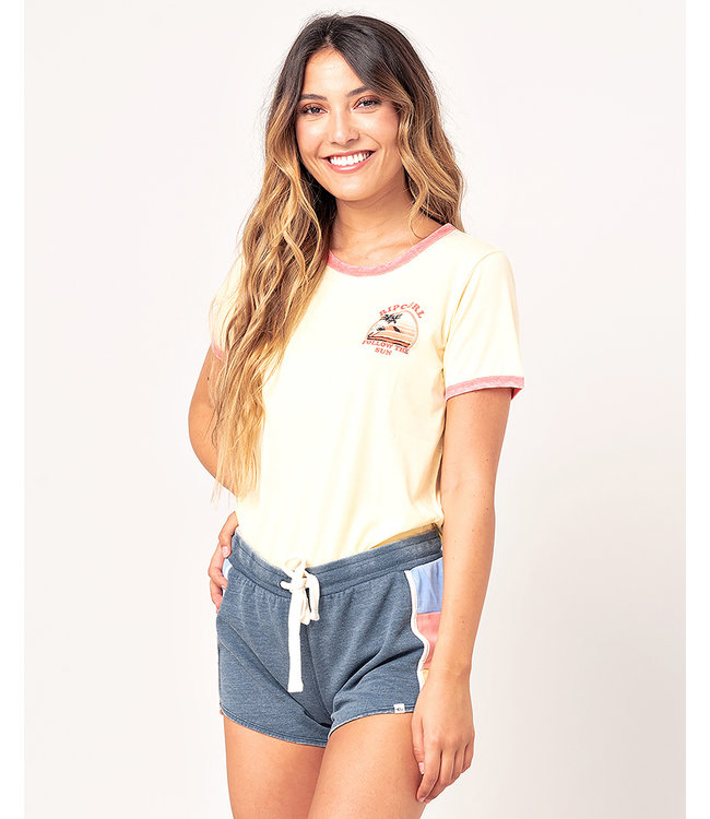 Rip Curl Golden State Ringer  - Yellow