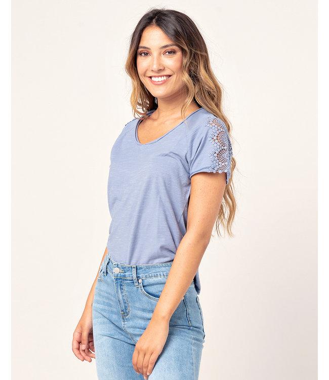 Rip Curl Schönes T-Shirt mit V-Ausschnitt - Denim Blue