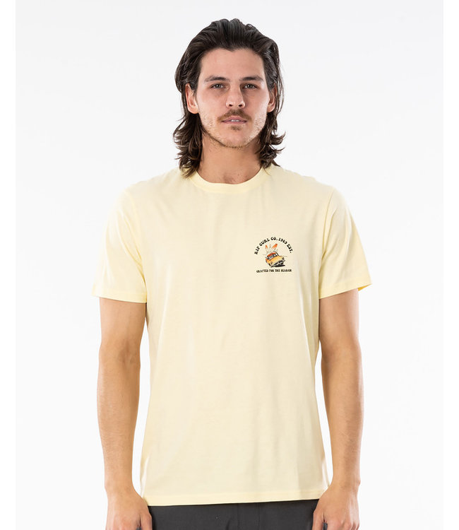 Rip Curl Endless Search Tee - Pale Yellow