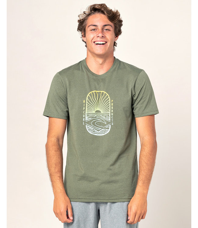 Rip Curl Lighthouse Tee  - Olive Marle