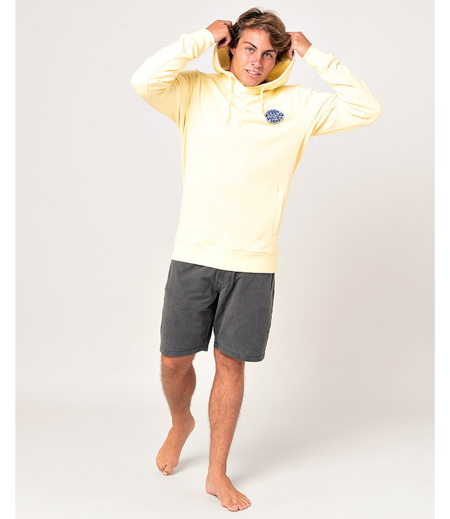 Rip Curl Os Hooded Pop Over Print - Pale Yellow
