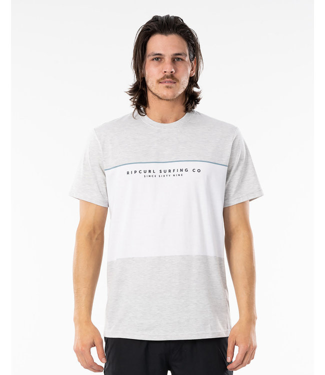 Rip Curl Section Vaporcool Tee  - Snow Marle