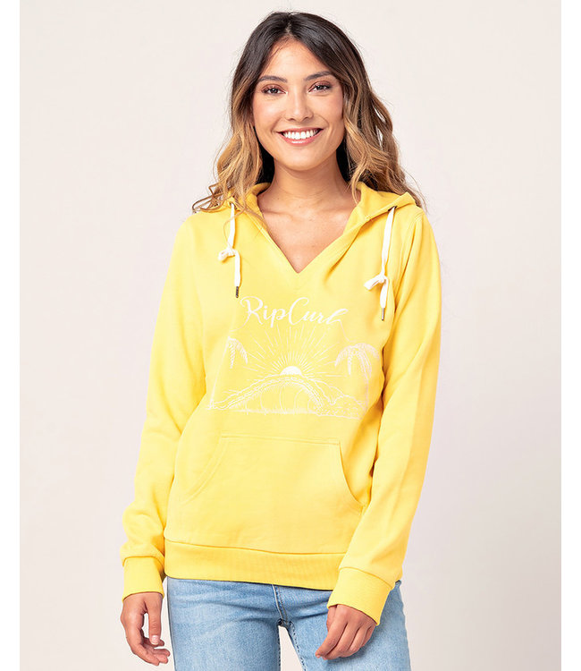 Rip Curl Branded Hood  - Bright Yellow