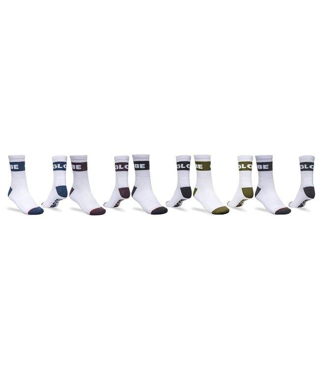 GLOBE Horizons Crew Sock 5Pack White