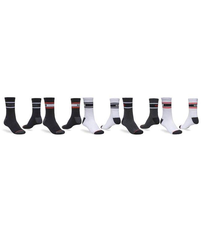 GLOBE Tripple Stripe Crew Sock 5Pac