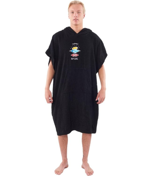 Rip Curl Wet As Hooded Towel  - Washed Black
