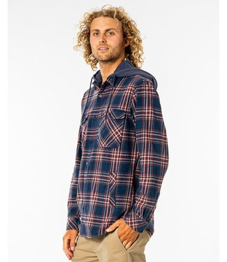 Rip Curl Ranchero Flannel Shirt  - Washed Navy