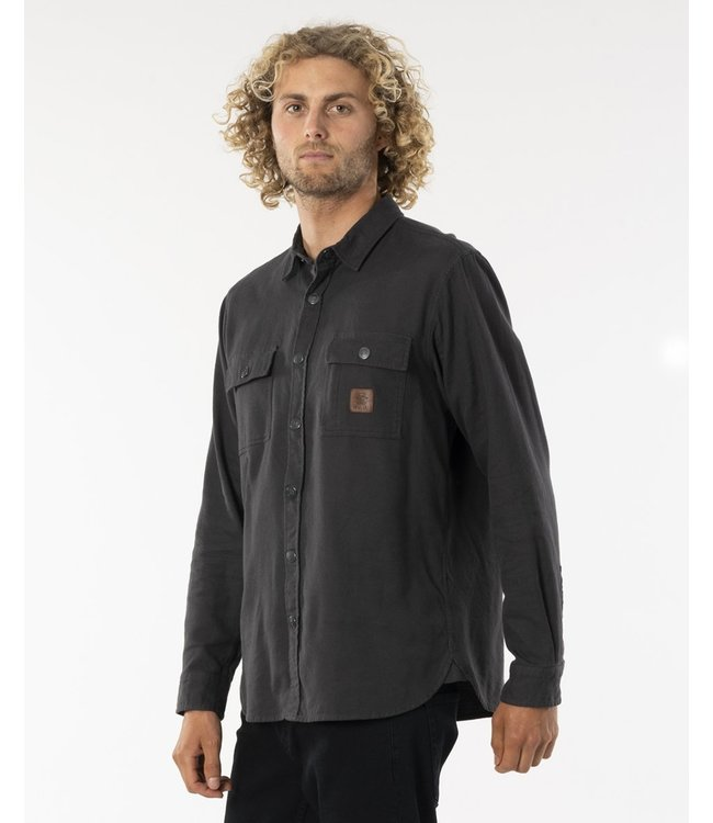 Rip Curl Searchers L/S Flannel  - Washed Black