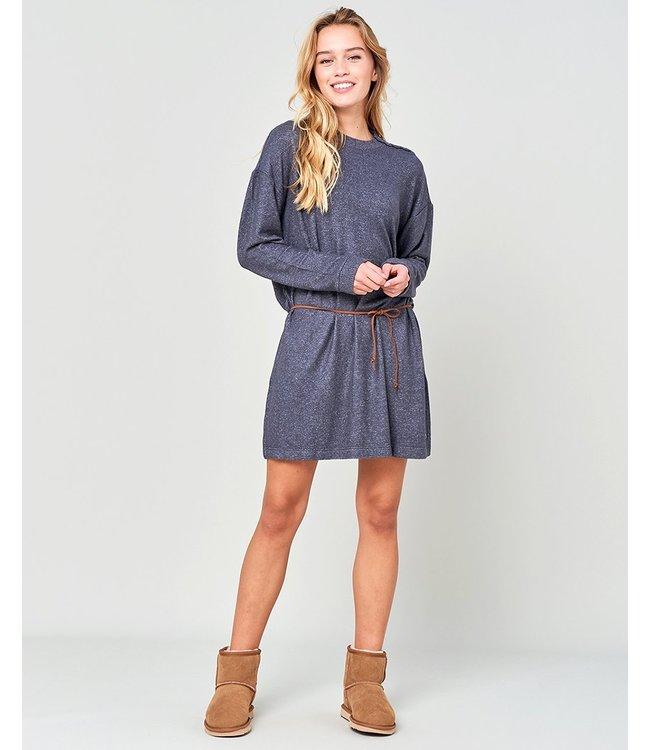 Rip Curl Cosy Ls Dress  - Dark Grey Marle