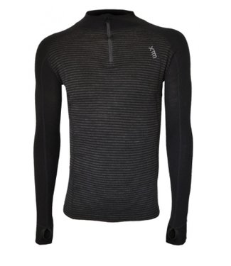 XTM Mens Merino Zip Neck230 Bl/Str Black