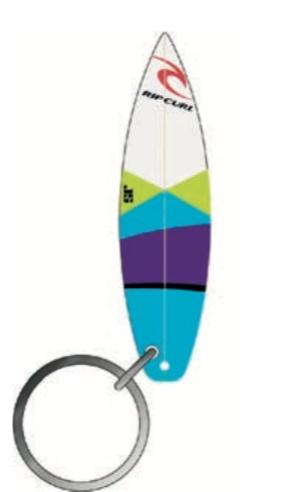 106e44e58b Rip Curl Surfboard Keyrings Blue Blue