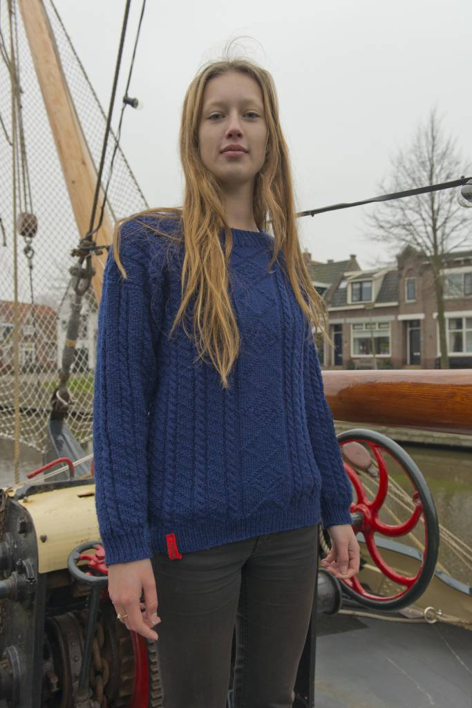 Knitting patern fisherman's jumper Gerben from Moddergat
