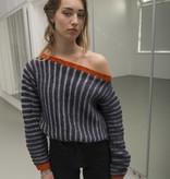 Fishermans weater Wietske off-shoulder-model