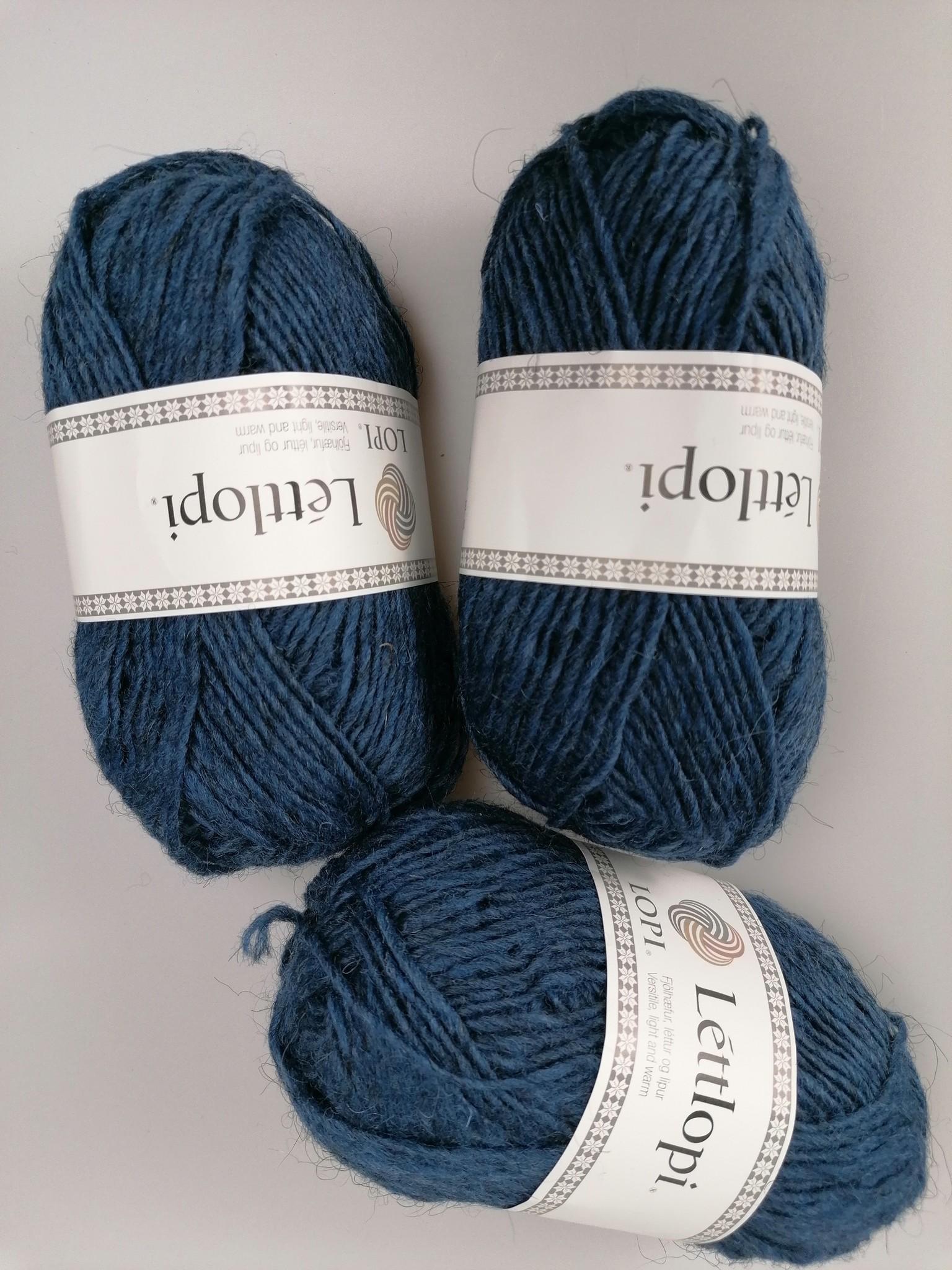 LettLopi wol, kleur 9419 middenblauw