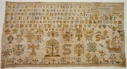 Patroon merklap 1712-1714 Tiertie Simmens