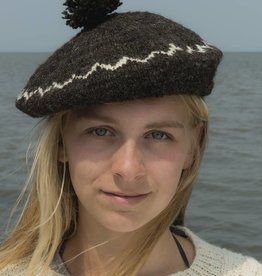 Fishersman's hat made of Waddenwol, grey