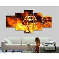 Canvas fireman 5-piece