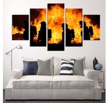 Canvas bosbrand 5-delig