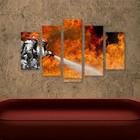 Canvas vloeistofbrand