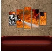 Canvas liquid fire 5 parts