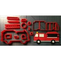 Koekjesvorm brandweerauto