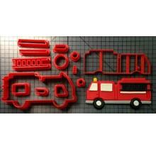 Koekjesvorm brandweerauto (zeer gedetaileerd)