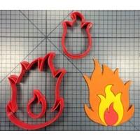 Koekjesvorm vlam
