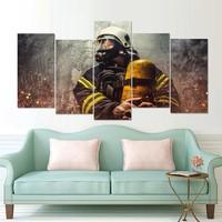 Canvas brandweerman 5 delig