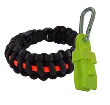 Thin red line bracelet + handschoenhouder