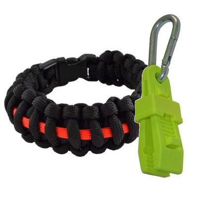 Thin red line bracelet + glove holder