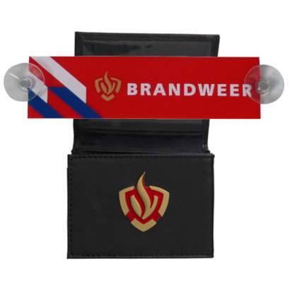 Fire brigade car sign + identification pouch