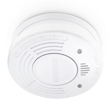 Smoke detector with fixed battery