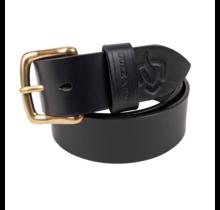 Fire brigade belt black saddle leather Duke & Sons