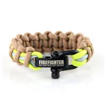 Brandweer armband bruin/beige