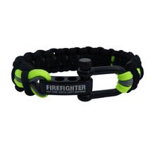 Brandweer armband zwart