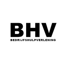 BHV sticker zelfklevend vinyl