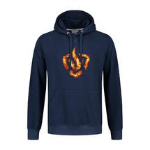 Hooded sweater logo on fire