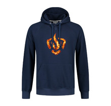 Hooded sweater logo on fire