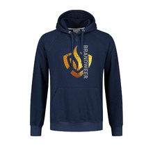 Hooded sweater gold logo