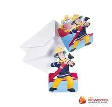 Brandweerman Sam Uitnodigingen 8st.