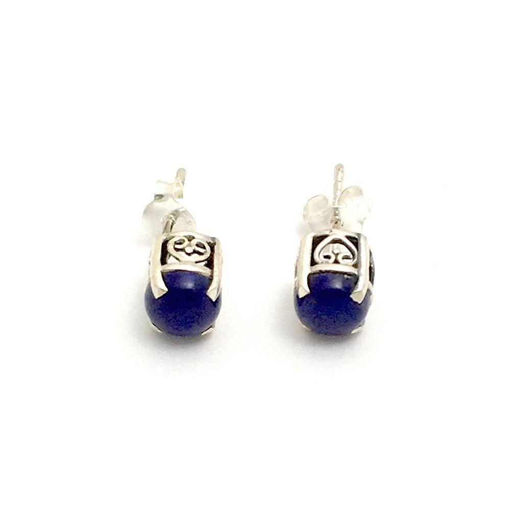 Oorsteker met Lapis lazuli