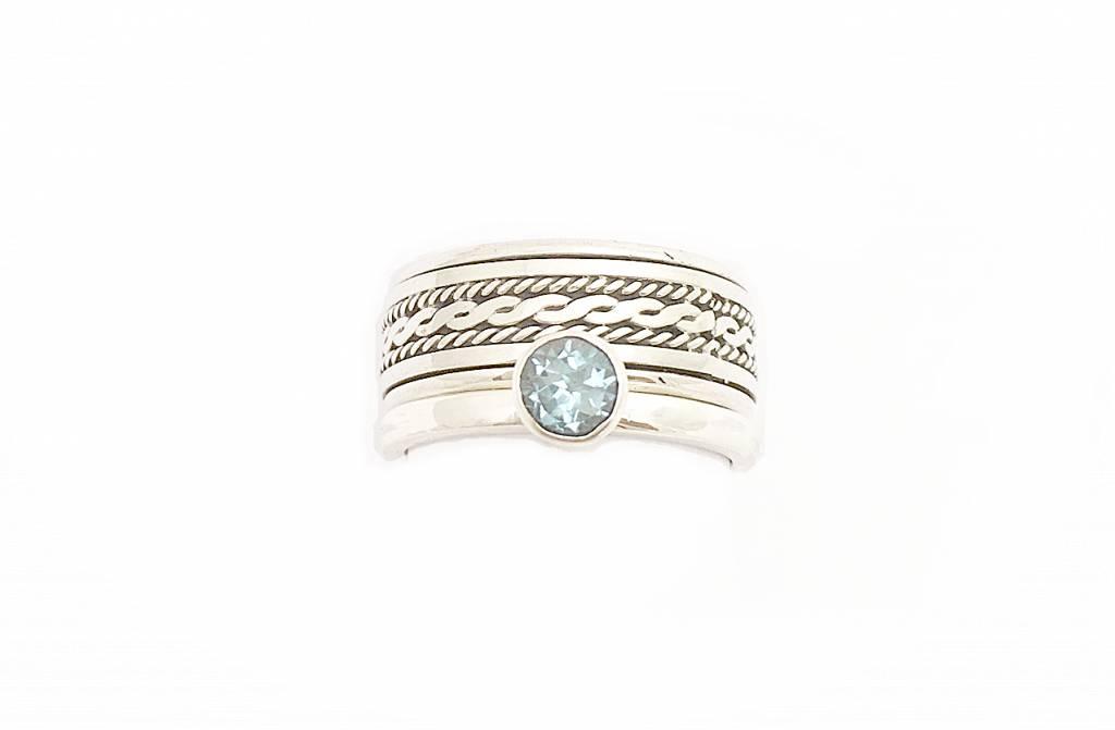 Kiliaan Jewelry Stackable Rings Sky blue topaas