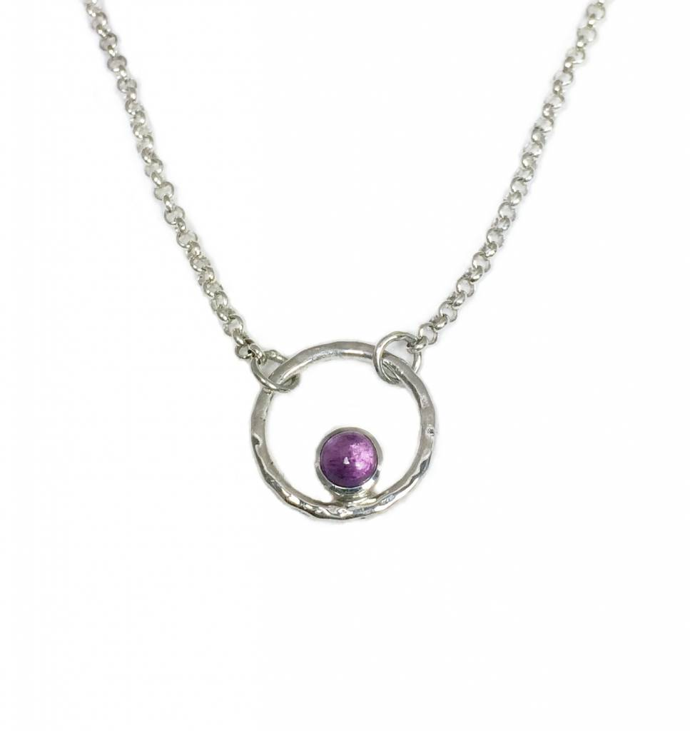 Circle of life necklace and amethyst