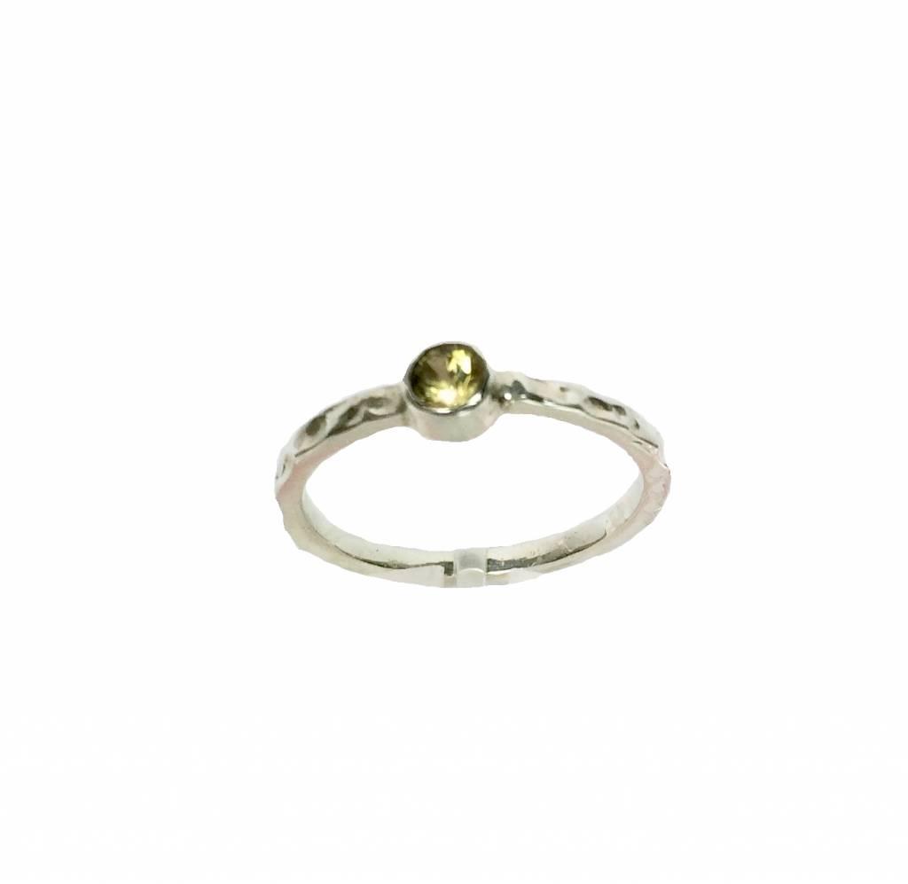 Stackable rings Gele saffier, Pukhraj