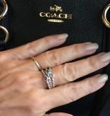 Stackable rings  Roze saffier