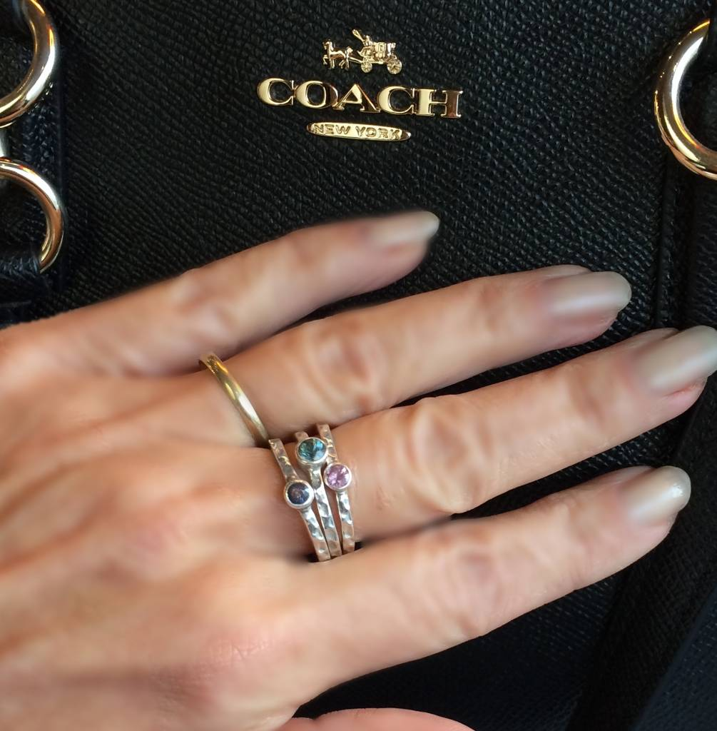 NJ Bali stack rings  Pink sapphire