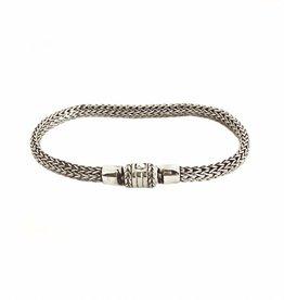 Bracelet woven silver, small