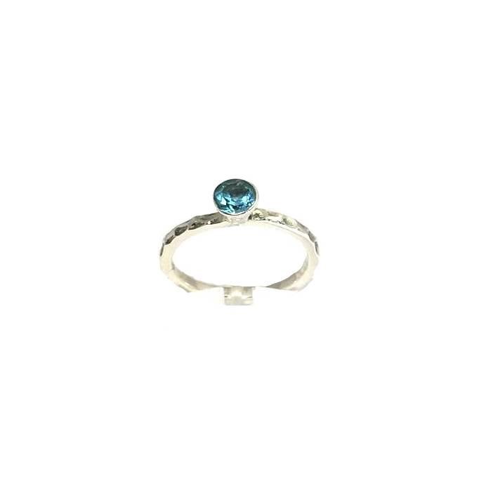 Stackable rings Swiss blue topaas