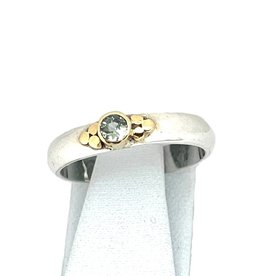 Kiliaan collectie Stackable ring sapphire green, dot