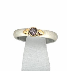 NJ Bali stack rings Stackable ring sapphire violet, dot